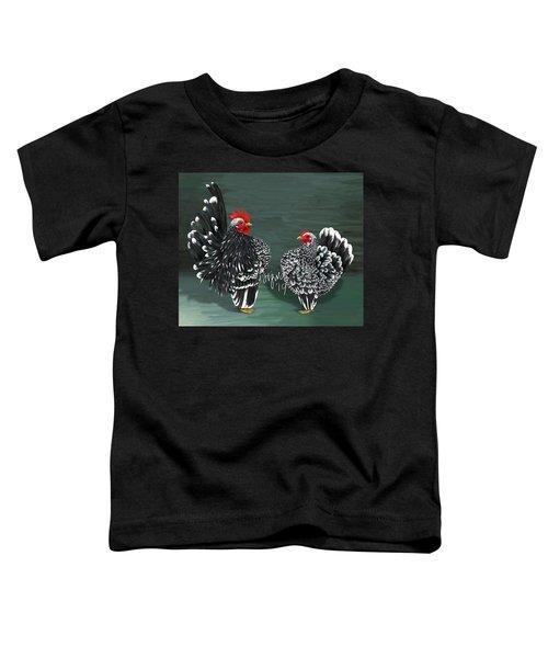 Black Mottled Serama Pair Toddler T-Shirt