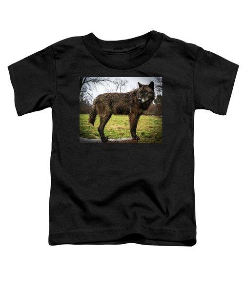Black Wolf Toddler T-Shirt