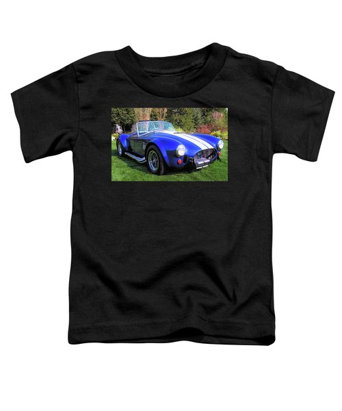 Blue 427 Shelby Cobra In The Garden Toddler T-Shirt