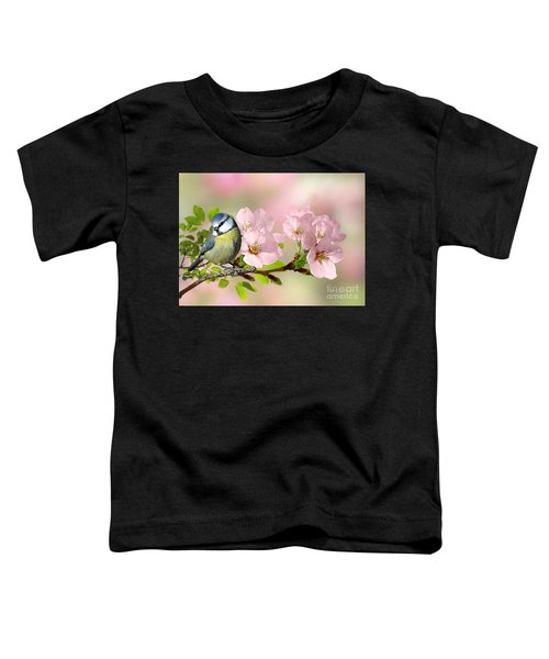 Blue Tit On Apple Blossom Toddler T-Shirt