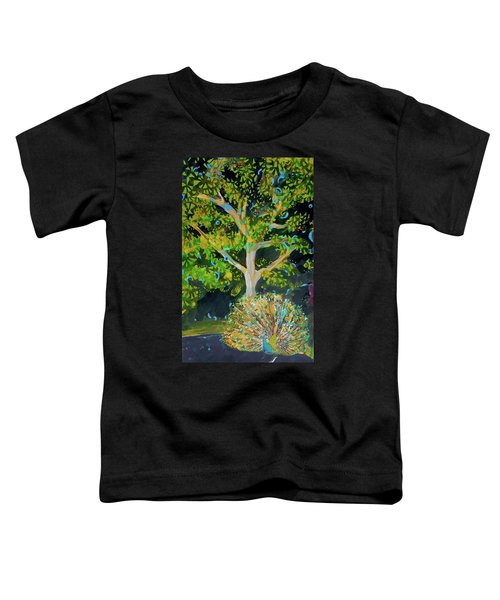 Branching Out Peacock Toddler T-Shirt