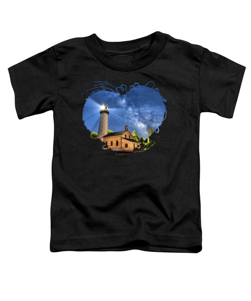 Cana Island Lighthouse Milky Way In Door County Wisconsin Toddler T-Shirt