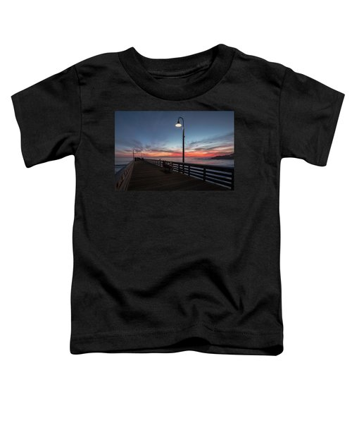 Cayucos Pier Sunset Toddler T-Shirt