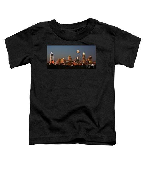 Charlotte City Skyline At Sunset Toddler T-Shirt