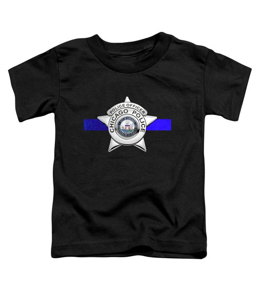 Chicago Police Department Badge -  C P D   Police Officer Star Over The Thin Blue Line Toddler T-Shirt