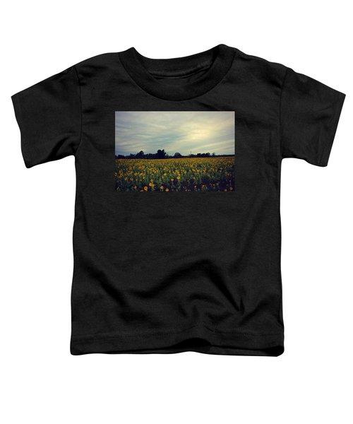 Cloudy Sunflowers Toddler T-Shirt