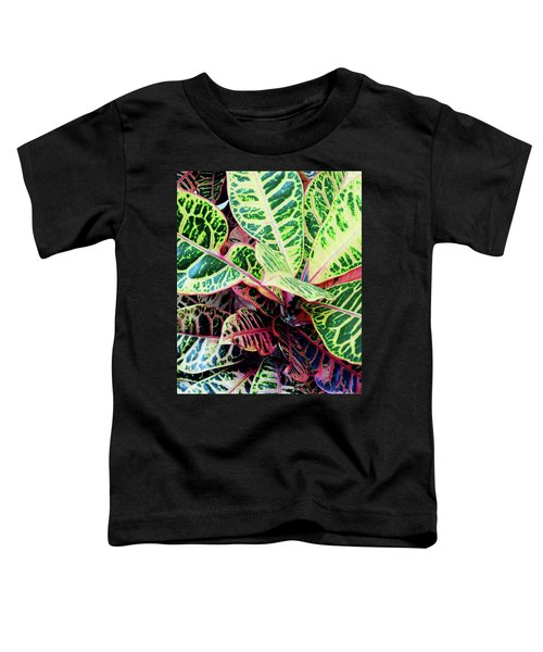 Colorful - Croton - Plant Toddler T-Shirt