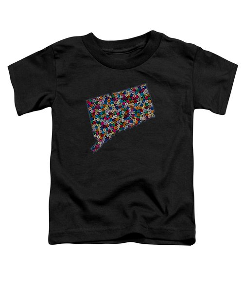 Connecticut Map - 2 Toddler T-Shirt