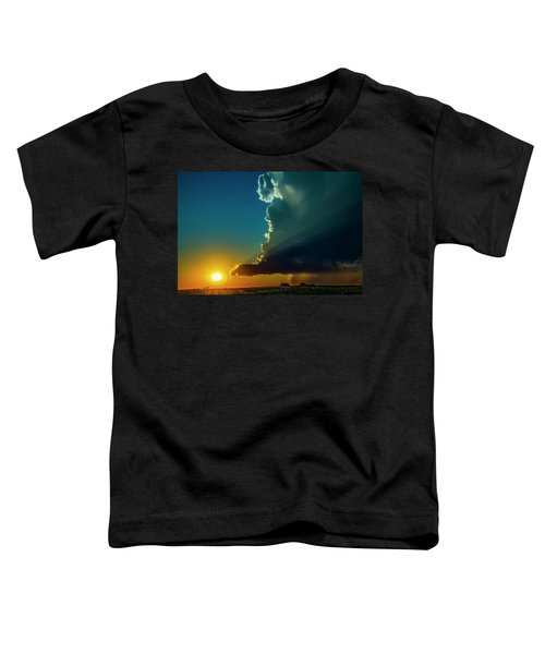 Dying Nebraska Thunderstorms At Sunset 068 Toddler T-Shirt