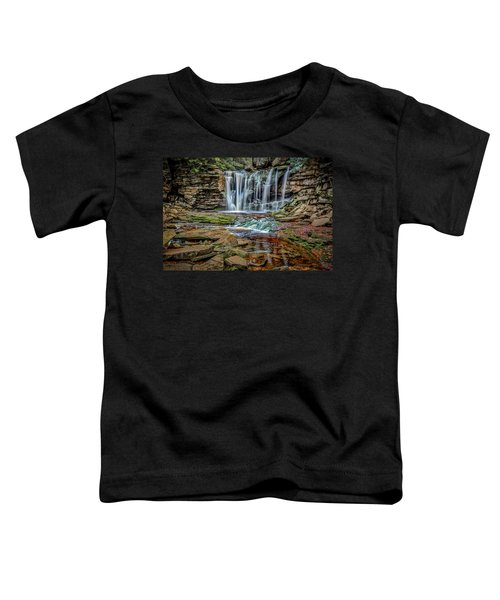 Toddler T-Shirt featuring the photograph Elakala Falls 1020 by Donald Brown