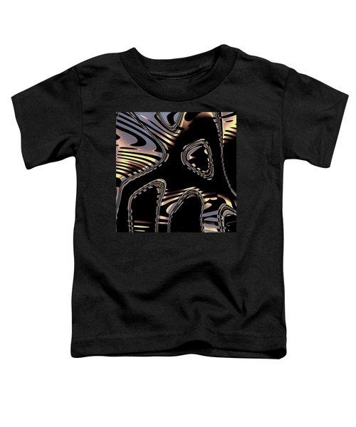 Elegant Black Fractal 2 Toddler T-Shirt