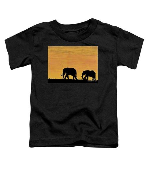 Elephants - At - Sunset Toddler T-Shirt