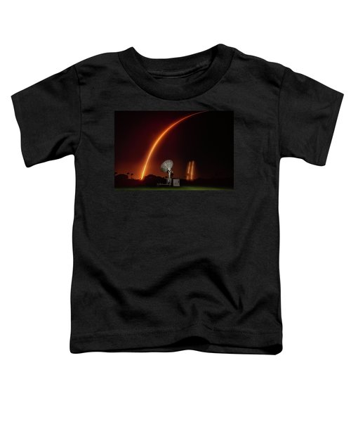 Falcon Heavy Night Launch And Landing Toddler T-Shirt