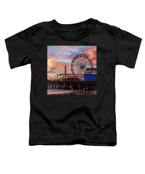 Ferris Wheel On The Pier - Square Toddler T-Shirt