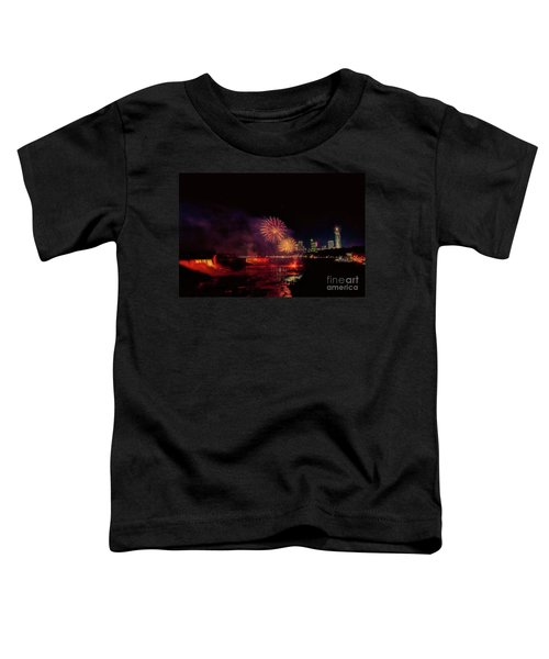 Fireworks Over The Falls. Toddler T-Shirt