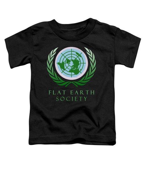 Flat Earth Society Toddler T-Shirt