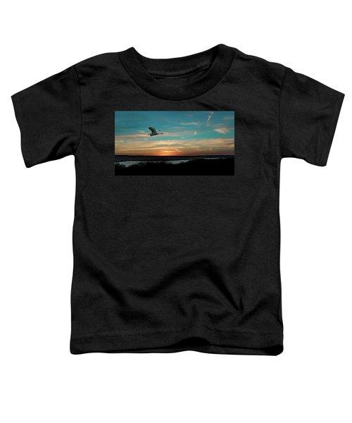Flight To The Lake Toddler T-Shirt