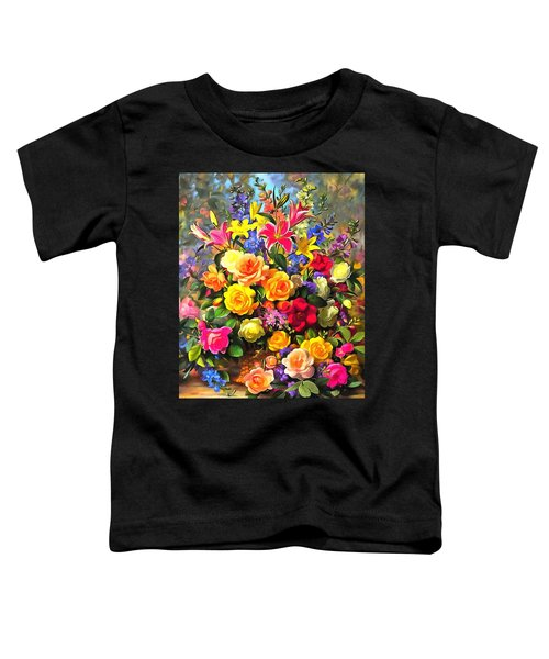 Floral Bouquet In Acrylic Toddler T-Shirt