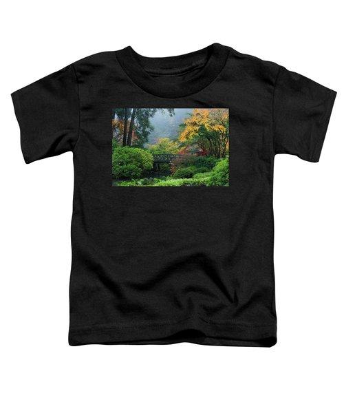Footbridge In Japanese Garden Toddler T-Shirt