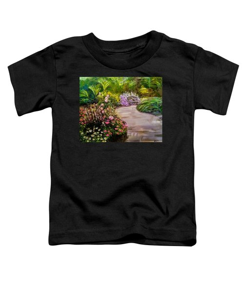 Path To The Garden Bench At Evergreen Arboretum Toddler T-Shirt