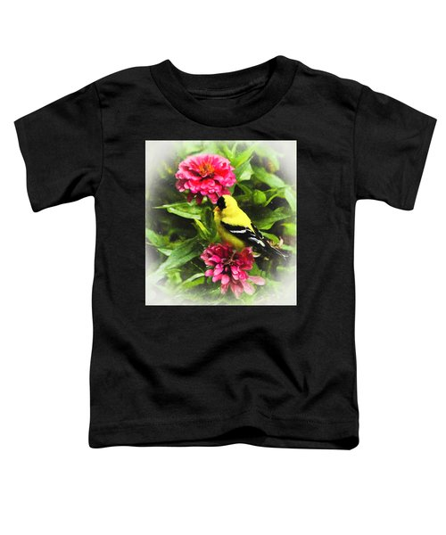 Goldfinches Love Zinnias Toddler T-Shirt