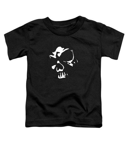 Goth Dark Skull Graphic Toddler T-Shirt