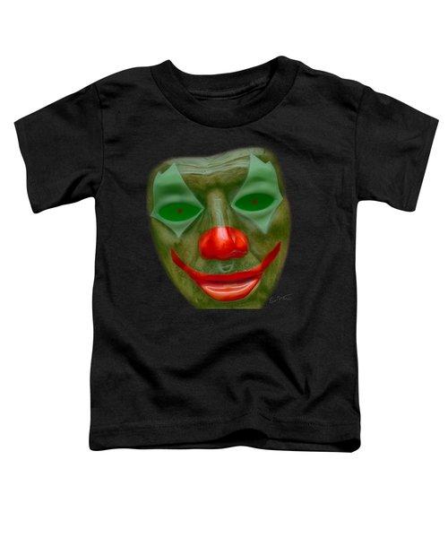 Green Clown Face Toddler T-Shirt