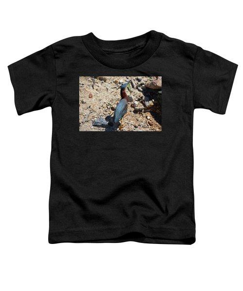 Green Heron Strut Toddler T-Shirt