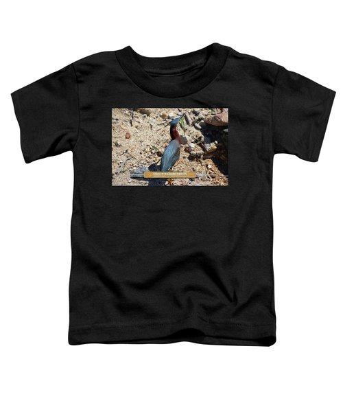 Green Heron Strut - Virgin Nature Series Toddler T-Shirt