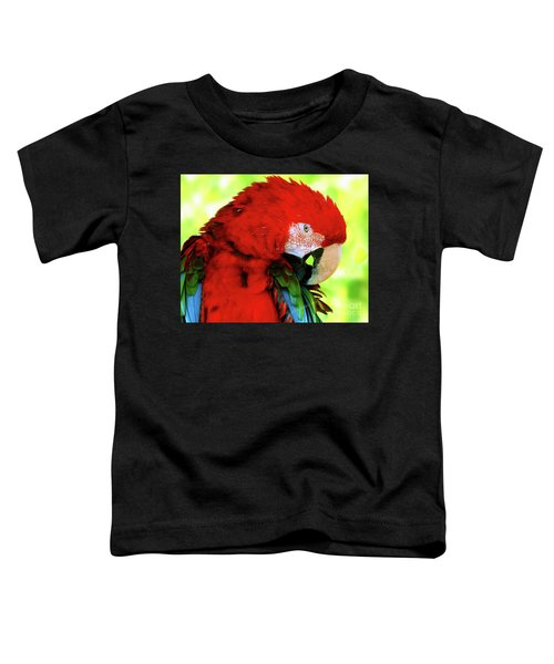 Green-winged Macaw Toddler T-Shirt