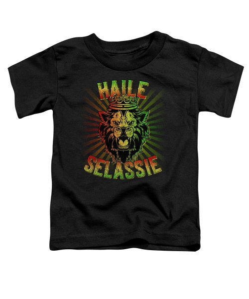 Haile Selassie Jah Rastafari Toddler T-Shirt