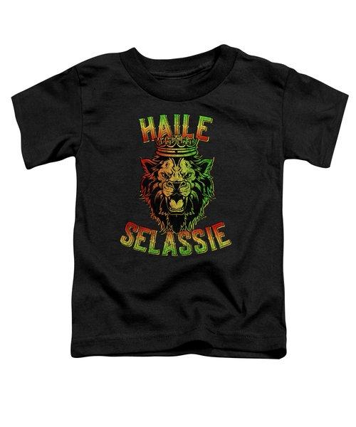 Haile Selassie Jah Rastafari Reggae Toddler T-Shirt