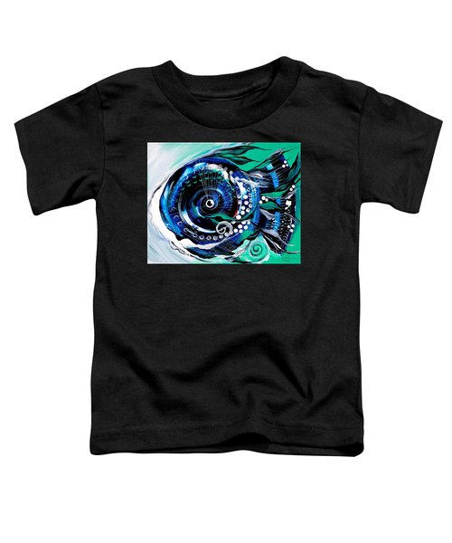 Half-smile, Break The Ice Fish Toddler T-Shirt