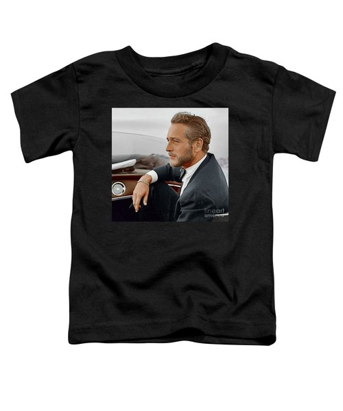 Hand Colored Picture Of Paul Newman Toddler T-Shirt
