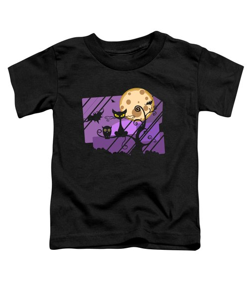 Happy Halloween Cat Toddler T-Shirt