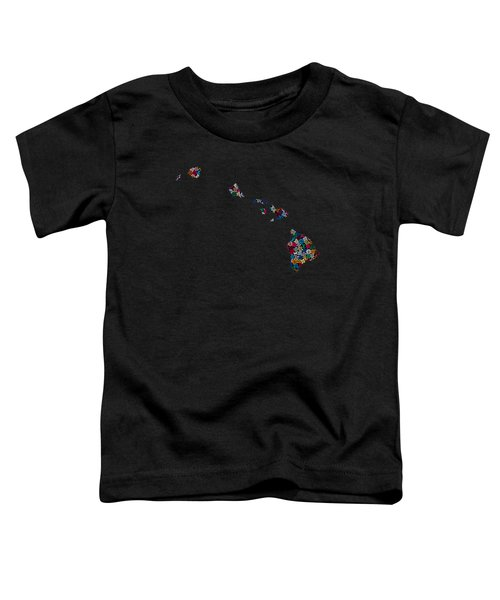 Hawaii Map - 2 Toddler T-Shirt