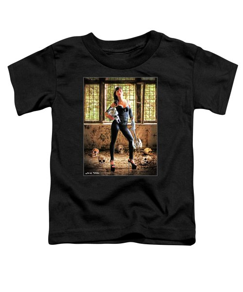 High Heeled Zombie Slayer Toddler T-Shirt