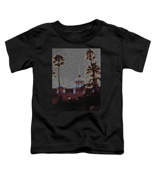 Hotel California Lyrics Mosaic Toddler T-Shirt