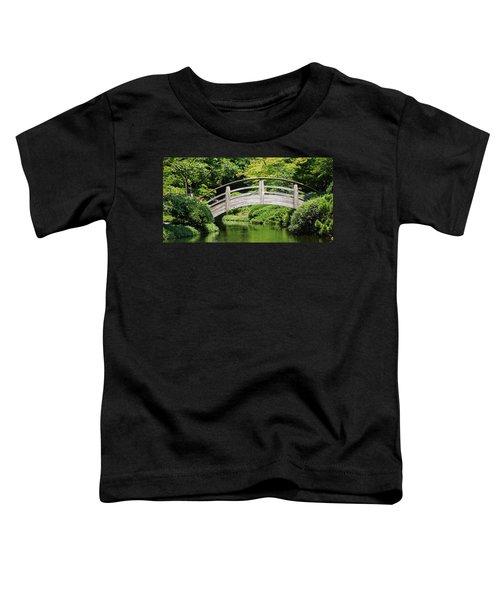 Japanese Garden Arch Bridge In Springtime Toddler T-Shirt