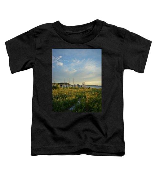 Leland Harbor At Sunset Toddler T-Shirt