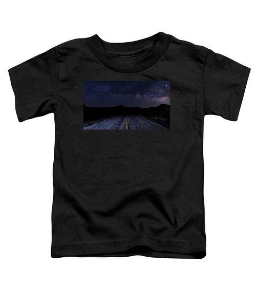 lonely Desert Road on a Starry Desert Night  Toddler T-Shirt