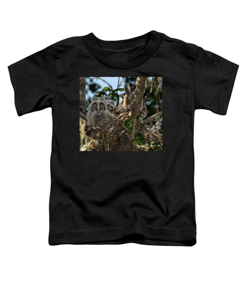 Long-eared Owl And Owlets Toddler T-Shirt
