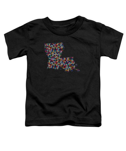 Louisiana Map - 2 Toddler T-Shirt