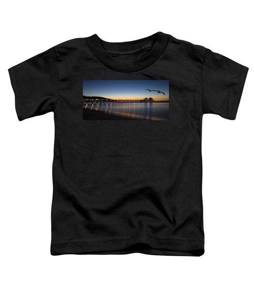 Malibu Pier At Sunrise Toddler T-Shirt