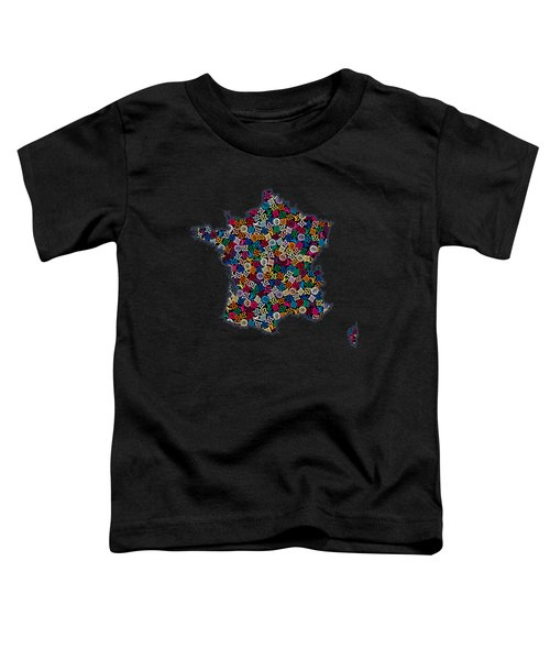Map Of France-2 Toddler T-Shirt