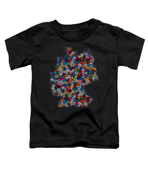 Map Of Germany-2 Toddler T-Shirt