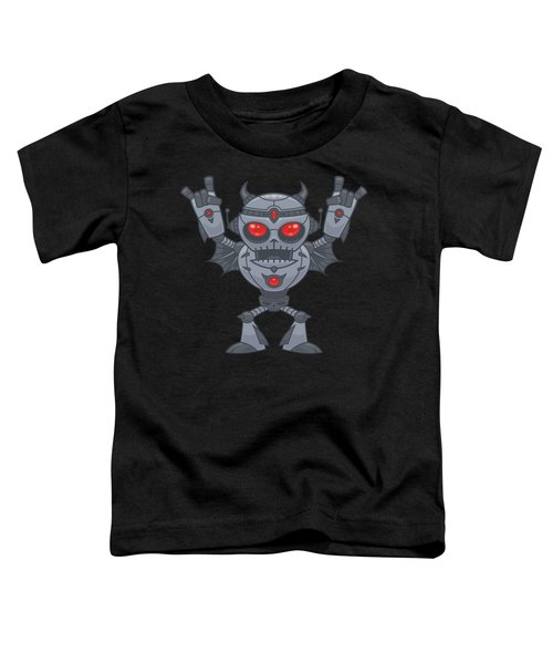 Metalhead - Heavy Metal Robot Devil Toddler T-Shirt