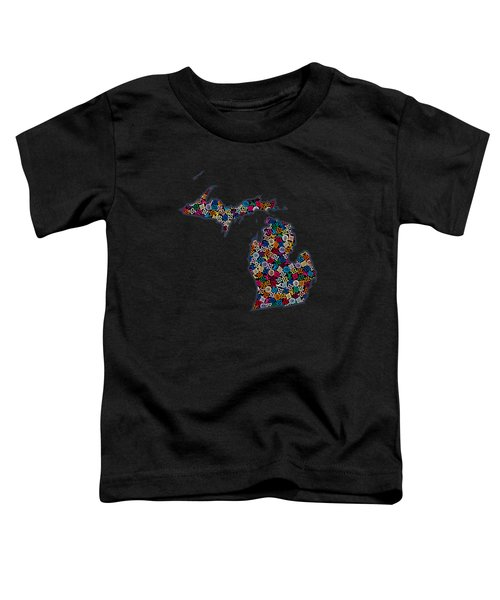 Michigan Map - 2 Toddler T-Shirt