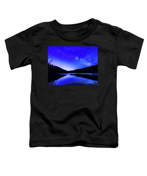 Milky Way Over Springtime Echo Lake Toddler T-Shirt