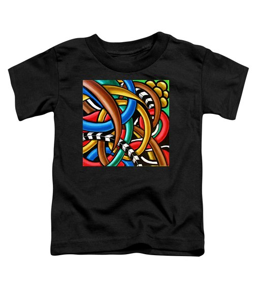 Colorful Abstract Art Painting Chromatic Intuitive Energy Art - Ai P. Nilson Toddler T-Shirt